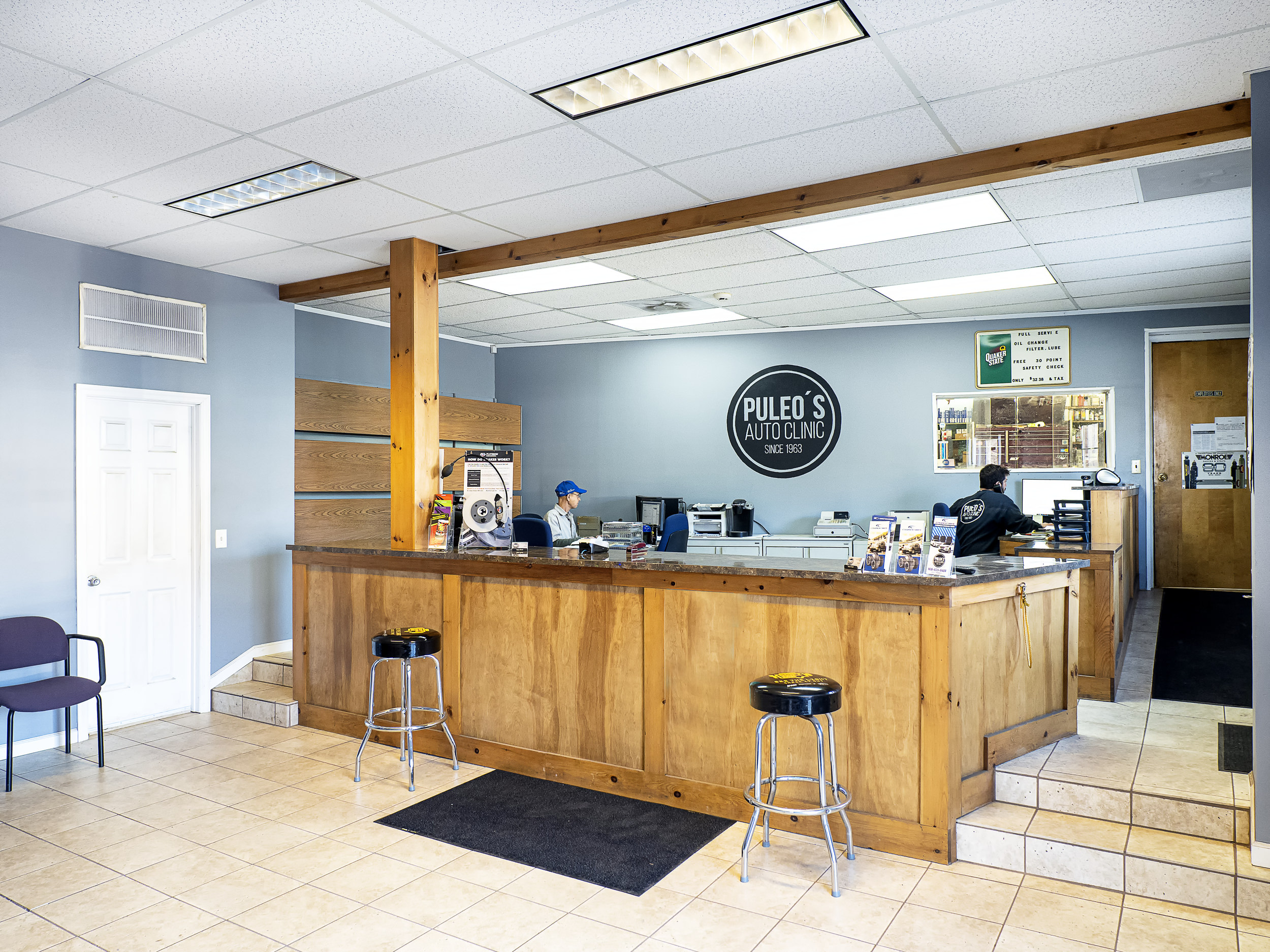counter area at puleo's auto clinic washington nj